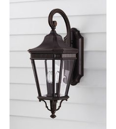 The Feiss Cotswold Lane Outdoor Wall Lantern features a black finish and clear beveled-glass shade. For ample outdoor lighting, use two C. Black Outdoor Wall Lights, Outdoor Wall Lantern, Outdoor Wall Sconce, Outdoor Wall Lighting, Outdoor Walls, Wall Sconce Lighting, House Lighting, Ceiling Lighting, Outdoor Areas