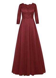 Dresstells® Long Bridesmaid Dress Prom Evening Party Dress With Sleeves Burgundy Size 2 Dresstells http://www.amazon.com/dp/B013UTCVV8/ref=cm_sw_r_pi_dp_llFxwb1T32511