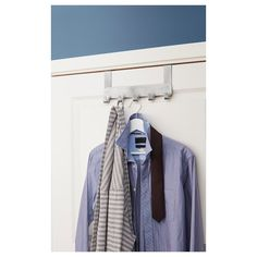 BROGRUND stainless steel, Hanger for door. The BROGRUND series offers a wide variety of clever accessories that create order out of chaos in your bathroom while also giving it a fresh, modern look. Towel Hooks, Towel Rail, Towel Holder, Ikea, Recycling Facility, Global Home, Online Checks, Form Design, Storage Places