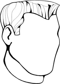 Blank Face Coloring Page - 28 Blank Face Coloring Page , Blank Face Drawing at Getdrawings House Colouring Pages, Truck Coloring Pages, Pattern Coloring Pages, Cool Coloring Pages, Coloring Sheets, Coloring Books, Face Template, Face Images, Process Art