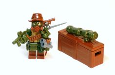 Woodland Military Army Tactical Troop Guy made with LEGO, Brickarms, and Custom Pieces by BrickEclipse