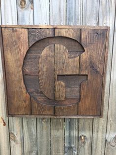 Custom Recycled pallet initial G sign- Wooden Letter sign- Monogram sign- Gift for home- Rustic home decor, Wood pallet sign, custom sign