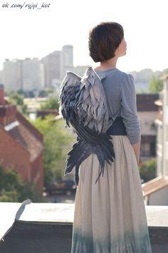 boho_area: Крылья-рюкзаки, войлочные.