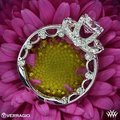 Verragio Bead-Set 3 Stone Engagement Ring - PAR-3064R -  Verragio Paradiso Collection.