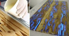 Pour Resin On The Piece Of Wood And Create The Coolest Coffee Table Ever