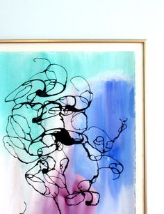 Abstract Watercolor in Jewel Tones by lauratrevey on Etsy, $145.00