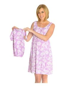 41ba67562e2ac Helen maternity/nursing nightgown matching baby going home outfit – Baby Be Mine  Baby Going