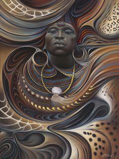 ricardo chavez mendez artwork | ... Ricardo Chavez-Mendez - African Spirits I Fine Art Prints and Posters