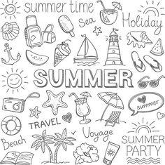 Summer vector art illustration