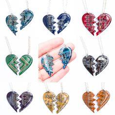 Friendship necklaces 2 Split hearts