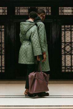 Burberry. Muted quilting.