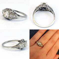 I'm just in love with vintage wedding rings!