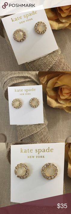Kate Spade 14K Gold Fill Stud Earrings These Kate Spade 14K Gold Fill Stud Earrings are new with tags! These are absolutely gorgeous statement earrings! They are perfect for both everyday and evening wear! I love earrings that easily transition from day to night! I received two pair of these for my birthday and never exchanged so my loss, your gain! I do not have the dust bag but I will ship in a gift box. Offers are always welcome!  kate spade Jewelry Earrings