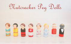 DIY Nutcracker Peg Dolls.... links to Nutcracker and Nativity peg dolls.