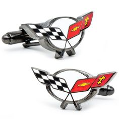 Officially licensed by General Motors Chevy Corvette Racing Flag Cufflinks Cuff Links - http://www.carhits.com/officially-licensed-by-general-motors-chevy-corvette-racing-flag-cufflinks-cuff-links/ - CarHits