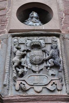 Armes des souverains britanniques, Glamis Castle, comté d'Angus, Ecosse,Grande-Bretagne, Royaume-Uni.