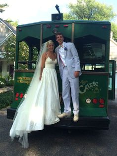 Perfect couple #trolley #wedding #bride