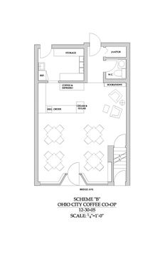 Cafe Floor Plan Blank Slate Cafe In 2018