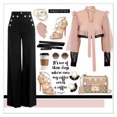 """""""👄"""" by hessa-46 ❤ liked on Polyvore featuring Christian Louboutin, JIRI KALFAR, Gucci, RED Valentino, Linda Farrow, ABS by Allen Schwartz and Rebecca Minkoff"""