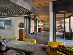 The adjacent slate-clad foyer separates the living wing from the private sleeping and media wing. - Kitchen Pictures From HGTV Dream Home 2014 on HGTV
