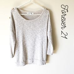 Forever 21 Tan Sweater Gently used Forever 21 tan long sleeve sweater, Size Large Forever 21 Sweaters Crew & Scoop Necks