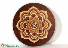 MANDALA MARQUETRY wood wall art zen decor of patience, picture wall hanging, fantasy art, flower wall art home decor by Andulino Wood Burning Stencils, Wood Burning Crafts, Picture On Wood, Picture Wall, Wood Wall Art, Wall Art Decor, Wood Bar Table, Mandala Painting, Mandala Art