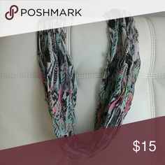 Scarf Multi color tribal print infinity scarf Worn once, been gently washed GREAT CONDITION  Firm price - $15 FREE Shipping :)  Don't Forget to Bundle & Save!!!! Accessories Scarves & Wraps