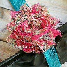 Pink Paisley Shabby Flower With Headband