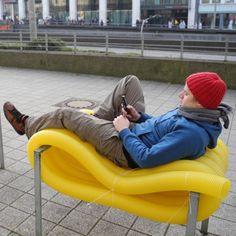 Mobiliário urbano reciclado por Oliver Schau