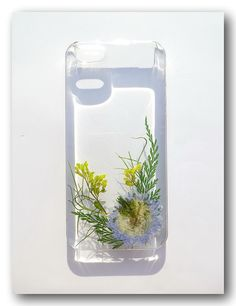 Handmade iPhone 5/5s case, Resin with Dried Flowers, Pressed flower art (185)
