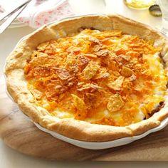 Beef Nacho Pie Recipe from Taste of Home -- shared by Doris Gill of Sargent, Nebraska