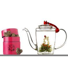 mariage freres sweetheart glass teapot budding tea gift set - Mariages Freres
