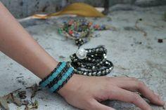 Beaded wrap bracelet Beaded Wrap Bracelets, Jewelry, Jewellery Making, Jewlery, Jewelery, Jewerly, Fine Jewelry, Jewels, Jewel