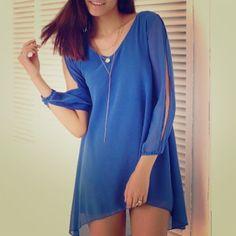 Two Chiffon Sleeve Tunics/Mini Dresses