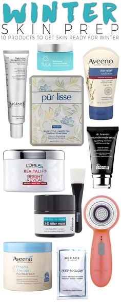 The colder weather is here. I have my heat turned on most days, and my skin  is feeling its effects. There are many products geared to hydrating and  exfoliating the skin which is perfect to use in the cold weather and winter  months. Here are ten great products to get skin ready for winter. Use them  throughout the season to keep skin in perfect condition.