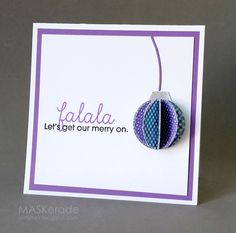 Falala card by Ardyth for Paper Smooches - Holiday Cheer, Garland Dies