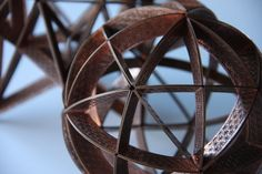 Detail of spherical cube and stellated dodecahedron. www.carnemolla.com.au Reuse, Upcycle, Fair Grounds, Deep, Sculpture, Detail, Leather, Upcycling, Repurpose