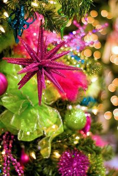 twinkle twinkle ~ beautiful Christmas colors of pink and green
