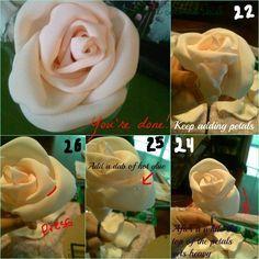 DIY Fabric flower bouquet : wedding bouquet diy fabric flowers ivory pink Finaltuto10