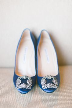 The perfect #blue #manolos   New York City Essex House Wedding from Maggie Harkov  Read more - http://www.stylemepretty.com/new-york-weddings/2013/08/20/new-york-city-essex-house-wedding-from-maggie-harkov/