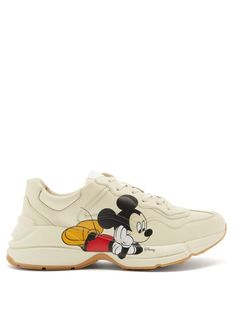 Gucci Sneakers, Converse Sneakers, Gucci Shoes, Leather Trainers, Leather Sneakers, Mickey Mouse, Supreme Clothing, Gucci Brand, Draw