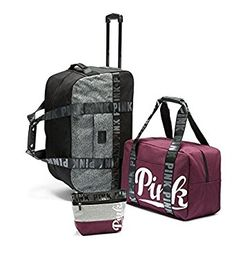 Amazon.com | Victoria's Secret Pink Limited Edition 3 Piece Travel Set Luggage Suitcase | Luggage Sets