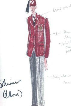 "An Isaac Mizrahi costume sketch for ""The Magic Flute."" [Courtesy Photo]"