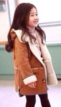 Meisjes Lammy coat hooded