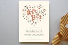 Hello Heart Baby Shower Invitations by Olivia Raufman at minted.com