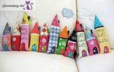 kolorowe domki - pomysły i inspiracje - Lawendowy Kot