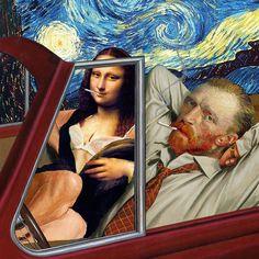 Collages et détournements de peintures classiques