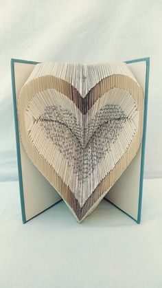 papierikovo / Dvojsrdce - vyskladané z knihy Book Folding, Book Art, Books, Libros, Book, Book Illustrations, Libri