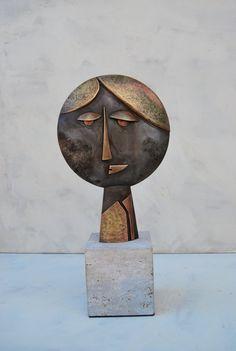Horváth Pál László CHRISTMAS SALE - Head - brass and copper sculpture