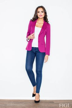 Call off the search with our Blazer With Tailored Waist In Magenta Pink. Shop unique fashion at SilkFred Bar, Unique Fashion, Womens Fashion, Fashion 2016, Elegant, Fashion Addict, Outfit Of The Day, Street Wear, Leather Jacket